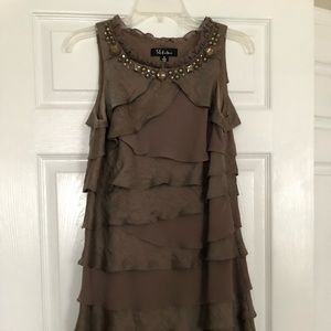 Sleeveless tiered  party dress